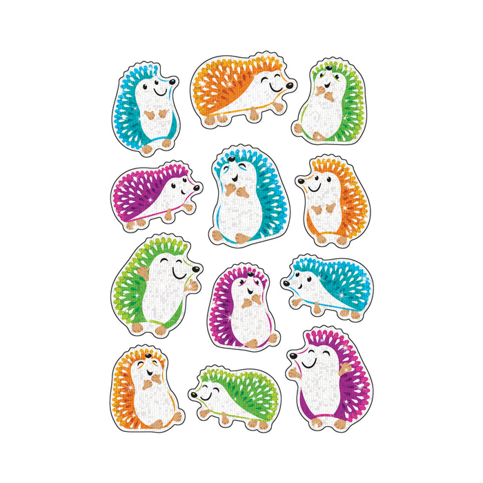 Colorful Hedgehogs Sparkle Stickers® – Large