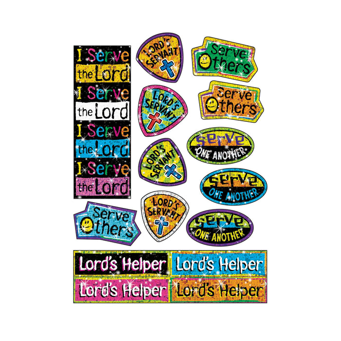 T63714 Stickers Sparkle Serve the Lord