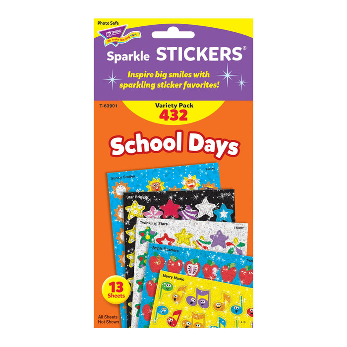 T63901 Sticker Variety Pack School Days Package