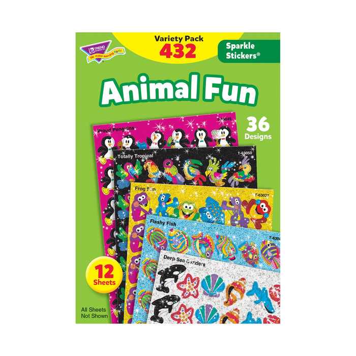 T63902 Sticker Variety Pack Animal Fun