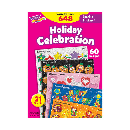 T63903 Sticker Variety Pack Holidays