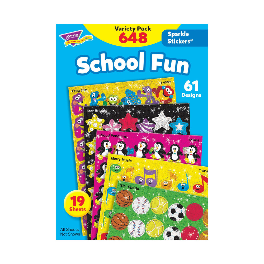 T63904 Sticker Variety Pack School Fun