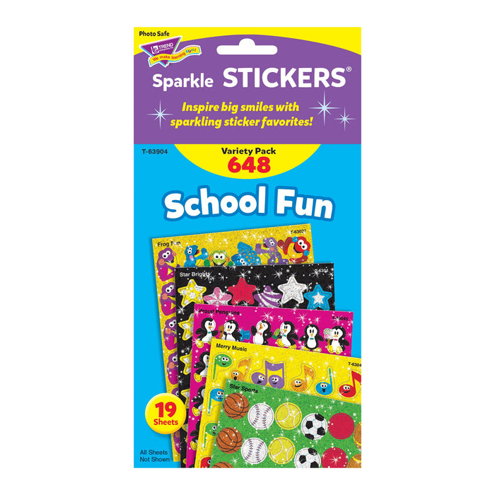 T63904 Sticker Variety Pack School Fun Package