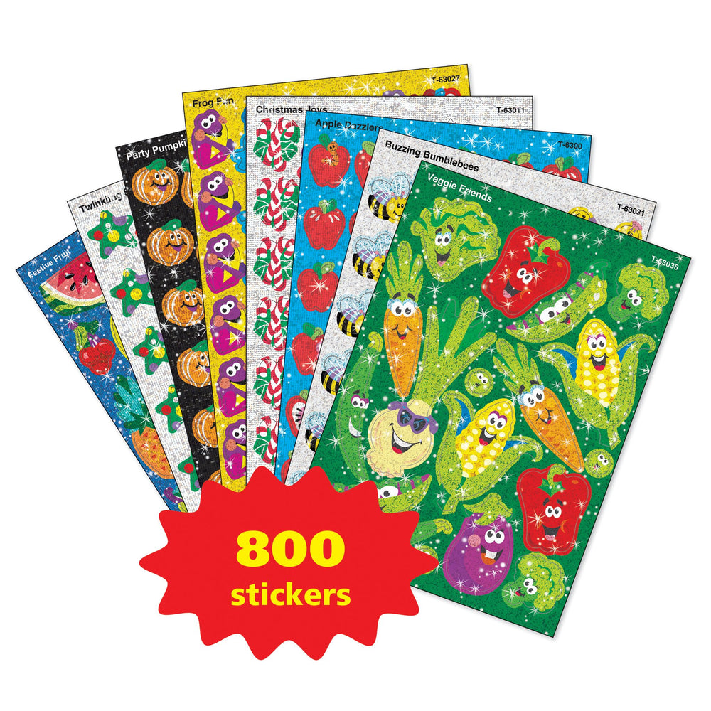 T63908 Sticker Variety Pack Sparkle Sticker