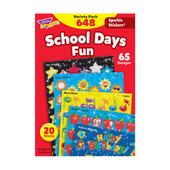 T63909 Sticker Variety Pack School Days Fun