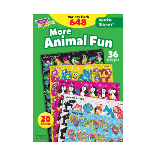 T63910 Sticker Variety Pack More Animal Fun