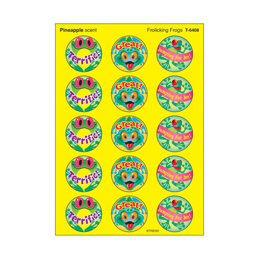 T6408 Stickers Scratch n Sniff Pineapple Frogs