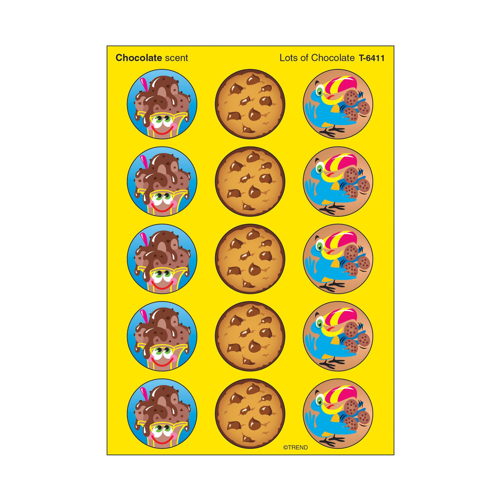 T6411 Stickers Scratch n Sniff Chocolate