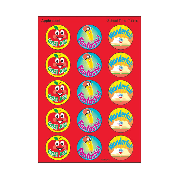 T6418 Stickers Scratch n Sniff Apple School Time