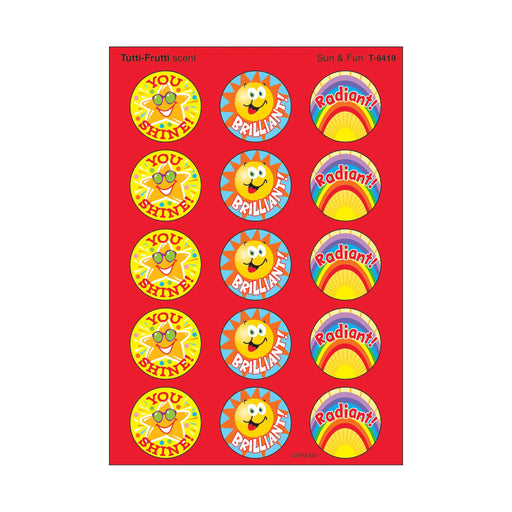 T6419 Stickers Scratch n Sniff Tutti Frutti Sun Fun