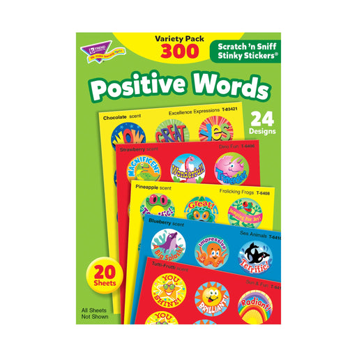 T6480 Sticker Scratch n Sniff Variety Pack Positive Words