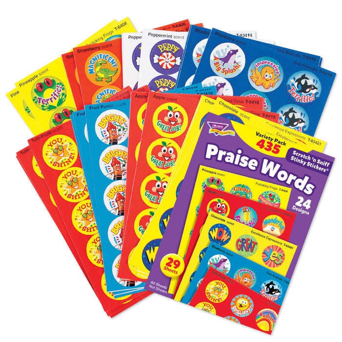T6490 Sticker Scratch n Sniff Variety Pack Praise Words