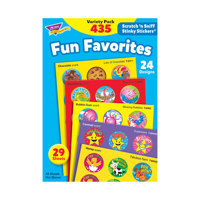 T6491 Sticker Scratch n Sniff Variety Pack Fun Favorites
