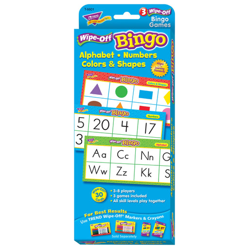 T6601 Wipe Off Bingo Game Alphabet Box Front