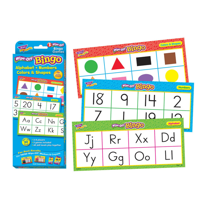 T6601 Wipe Off Bingo Game Alphabet