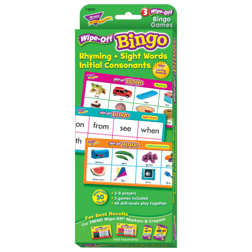 T6602 Wipe Off Bingo Game Rhyming Box Front
