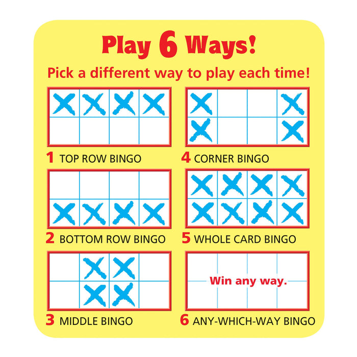 T6602 Wipe Off Bingo Game Rhyming