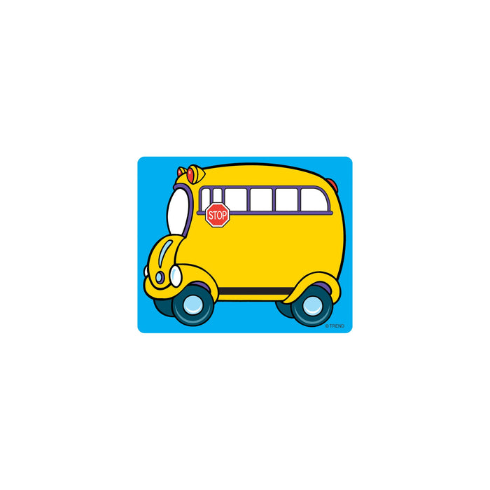 T68001 Name Tags School Bus