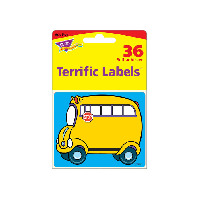 T68001 Name Tags School Bus Package