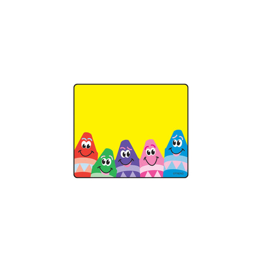 T68013 Name Tags Colorful Crayon
