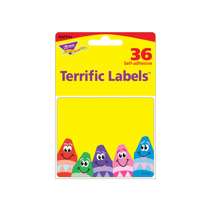 T68013 Name Tags Colorful Crayon Package