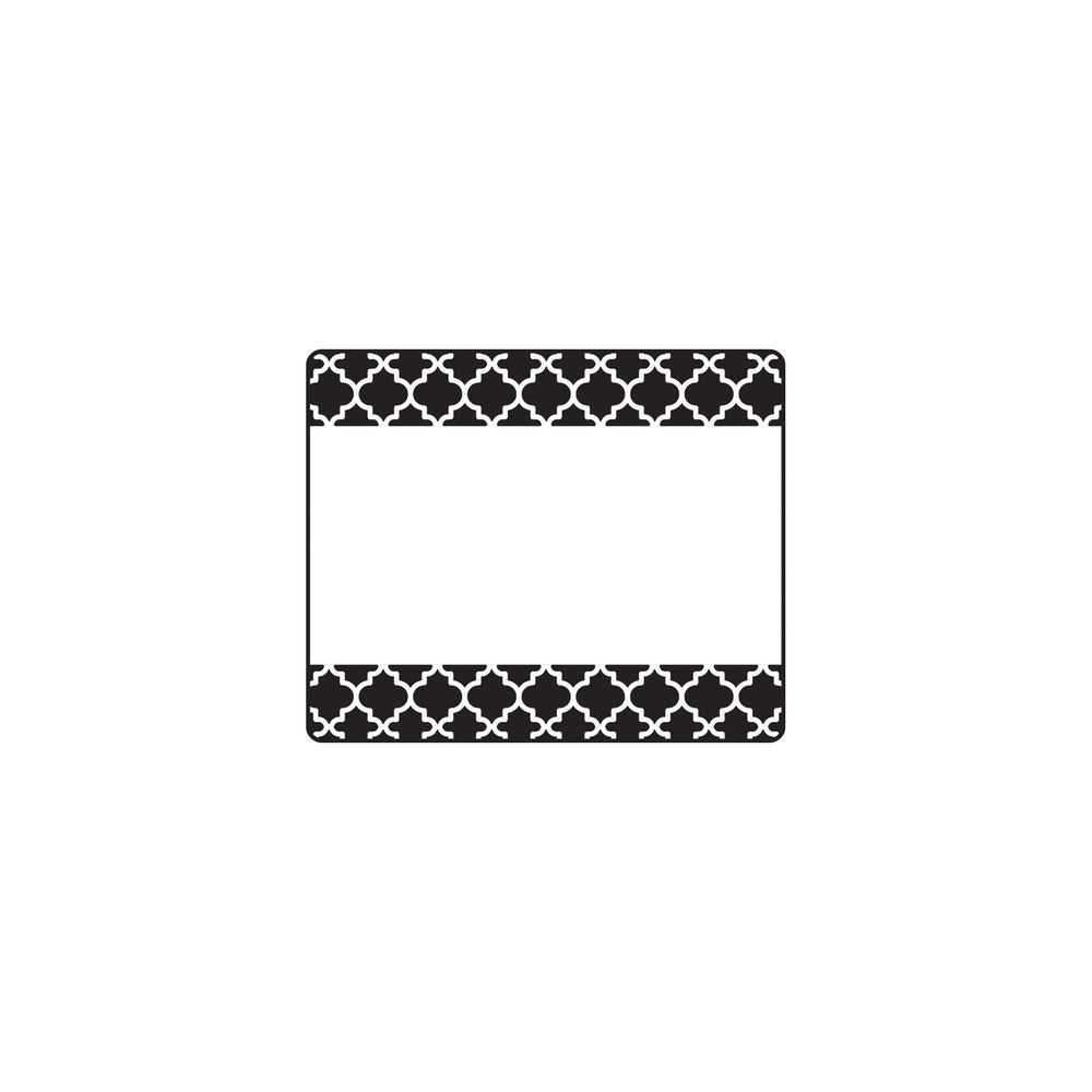 T68042 Name Tags Moroccan Black