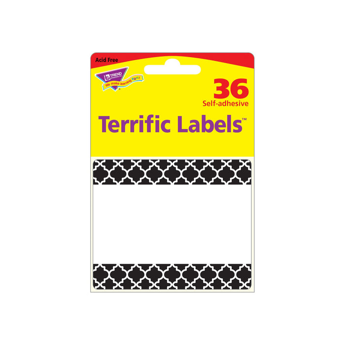 T68042 Name Tags Moroccan Black Package