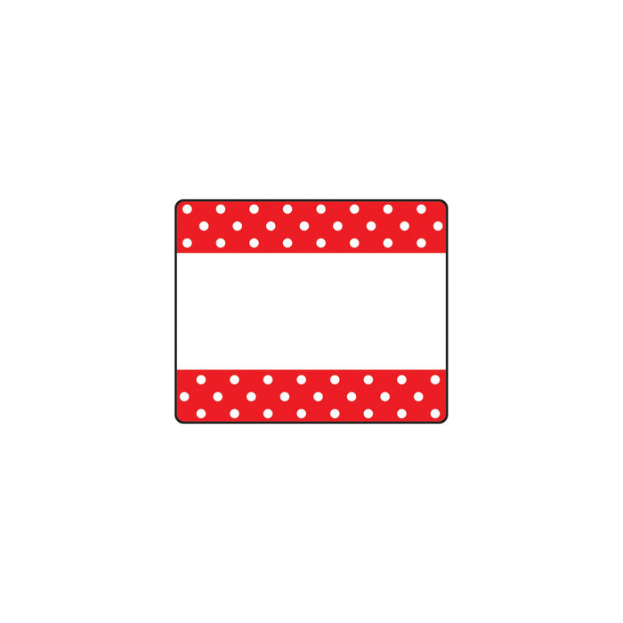 T68043 Name Tags Polka Dots Red