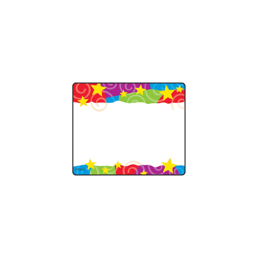 T68070 Name Tags Stars Swirls