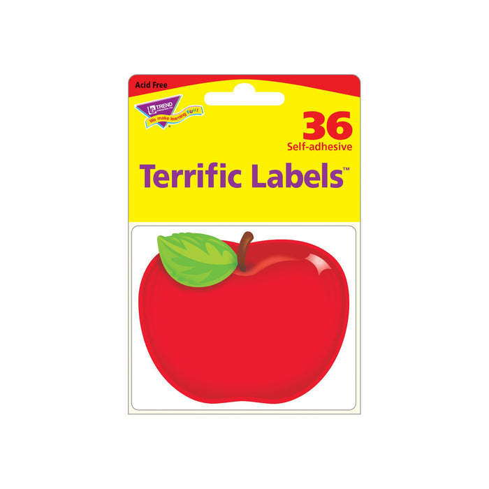 T68080 Name Tags Red Apple Package