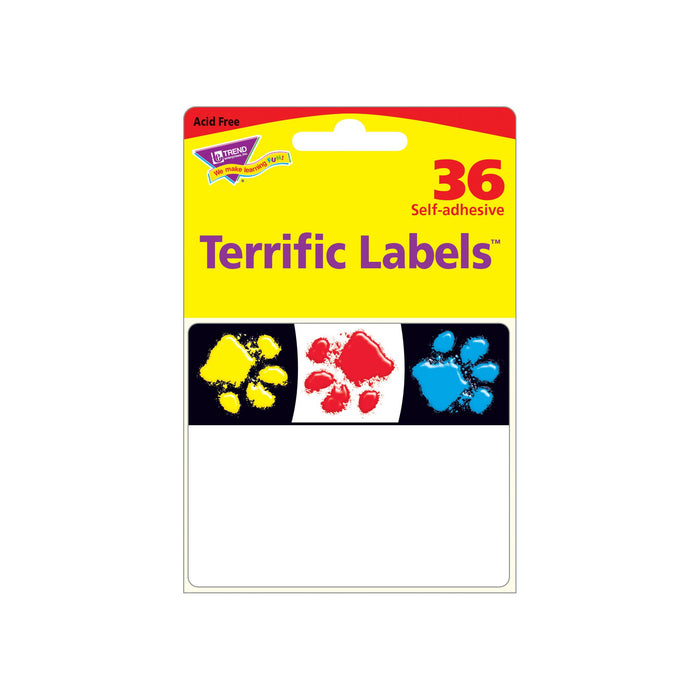 T68081 Name Tags Paw Prints Package