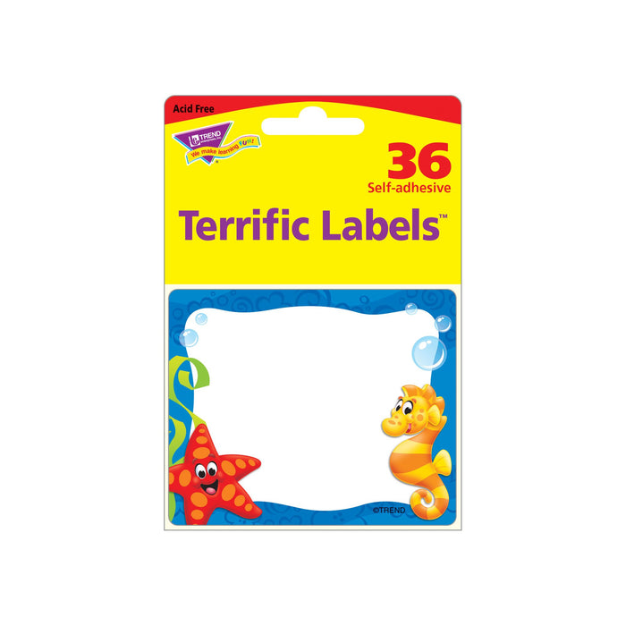 T68083 Name Tags Sea Life Package