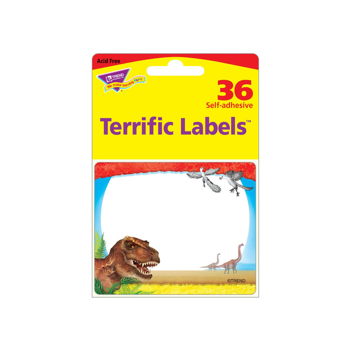 T68085 Name Tags Realistic Dinosaurs Package