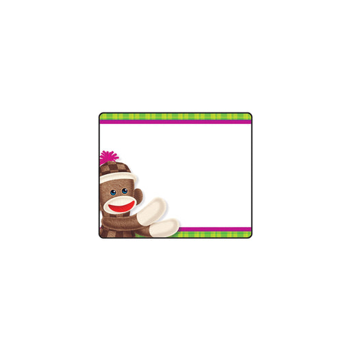 T68088 Name Tags Sock Monkey