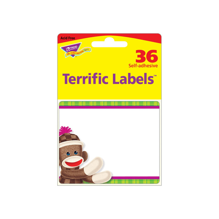 T68088 Name Tags Sock Monkey Package