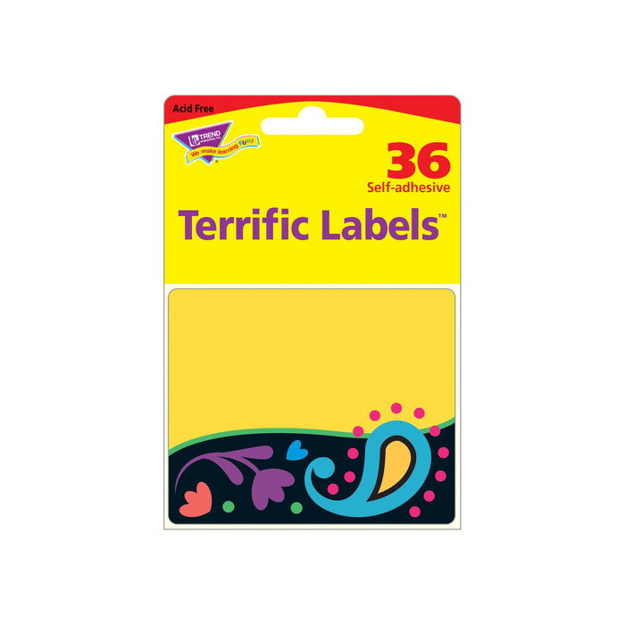 T68091 Name Tags Perfectly Paisley Package