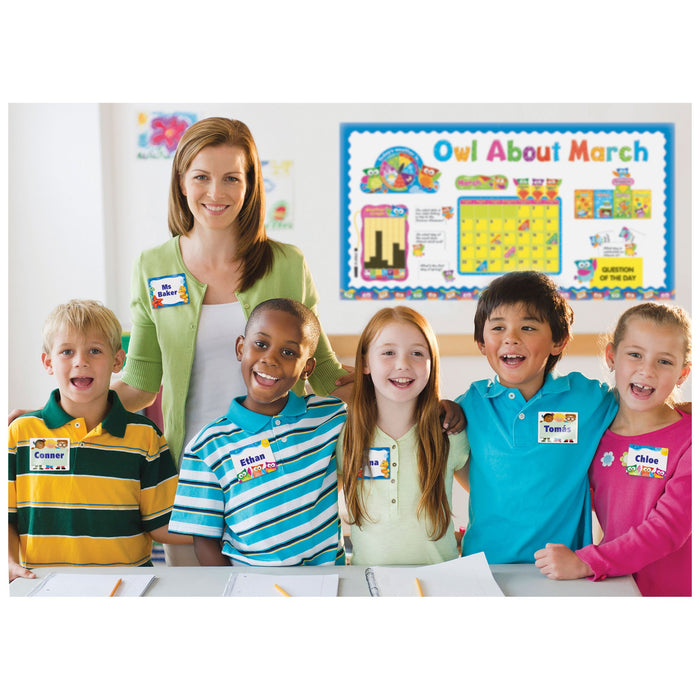 T68117 Name Tags Owl Stars Classroom