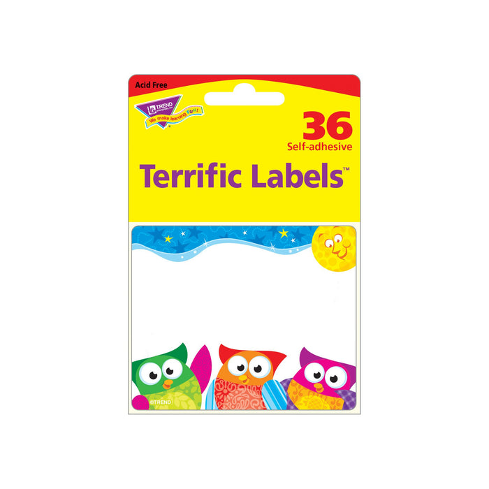 T68117 Name Tags Owl Stars Package