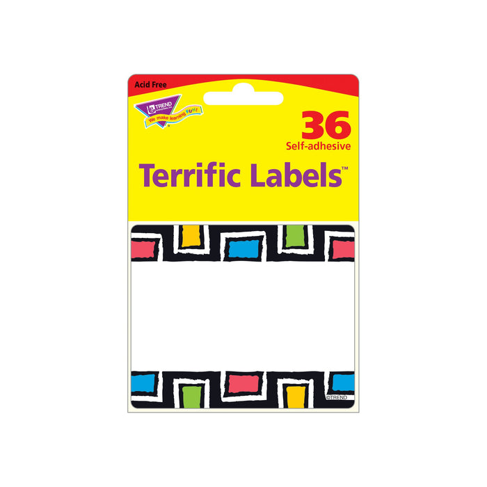 T68120 Name Tags Bold Rectangles Package