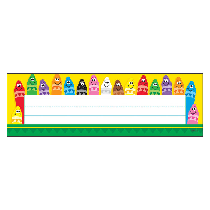 T69013 Name Plate Color Crayons