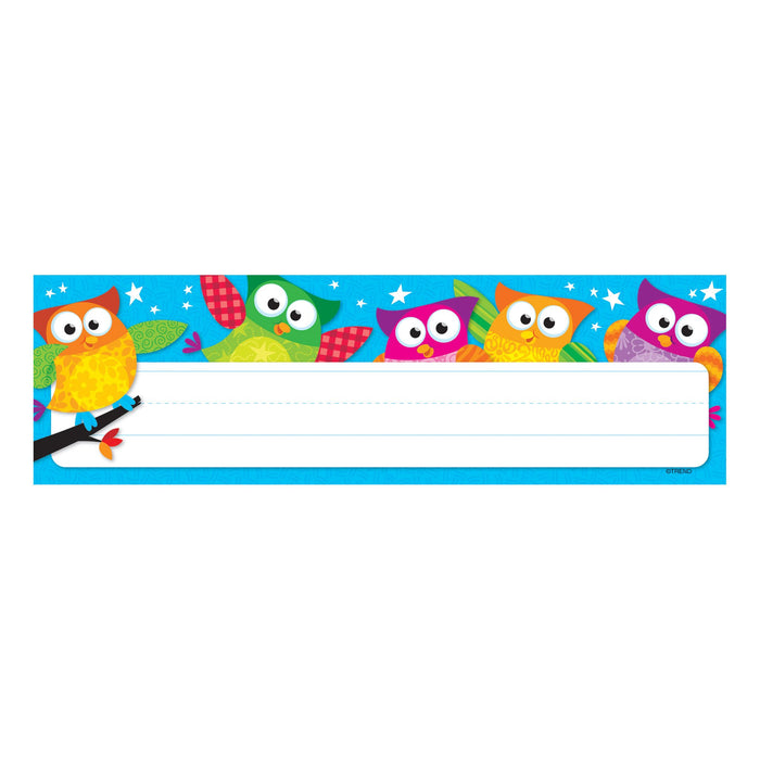 T69217 Name Plate Owl Stars