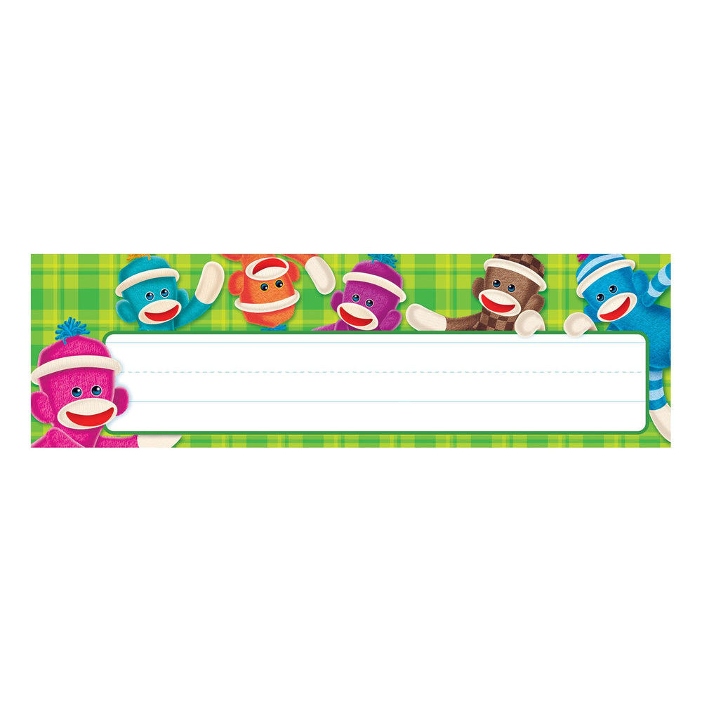 T69235 Name Plate Sock Monkey
