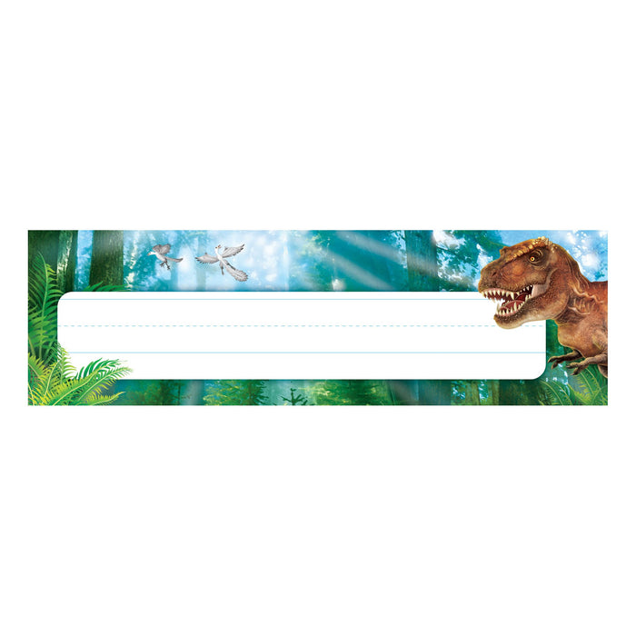 T69239 Name Plate Realistic Dinosaurs
