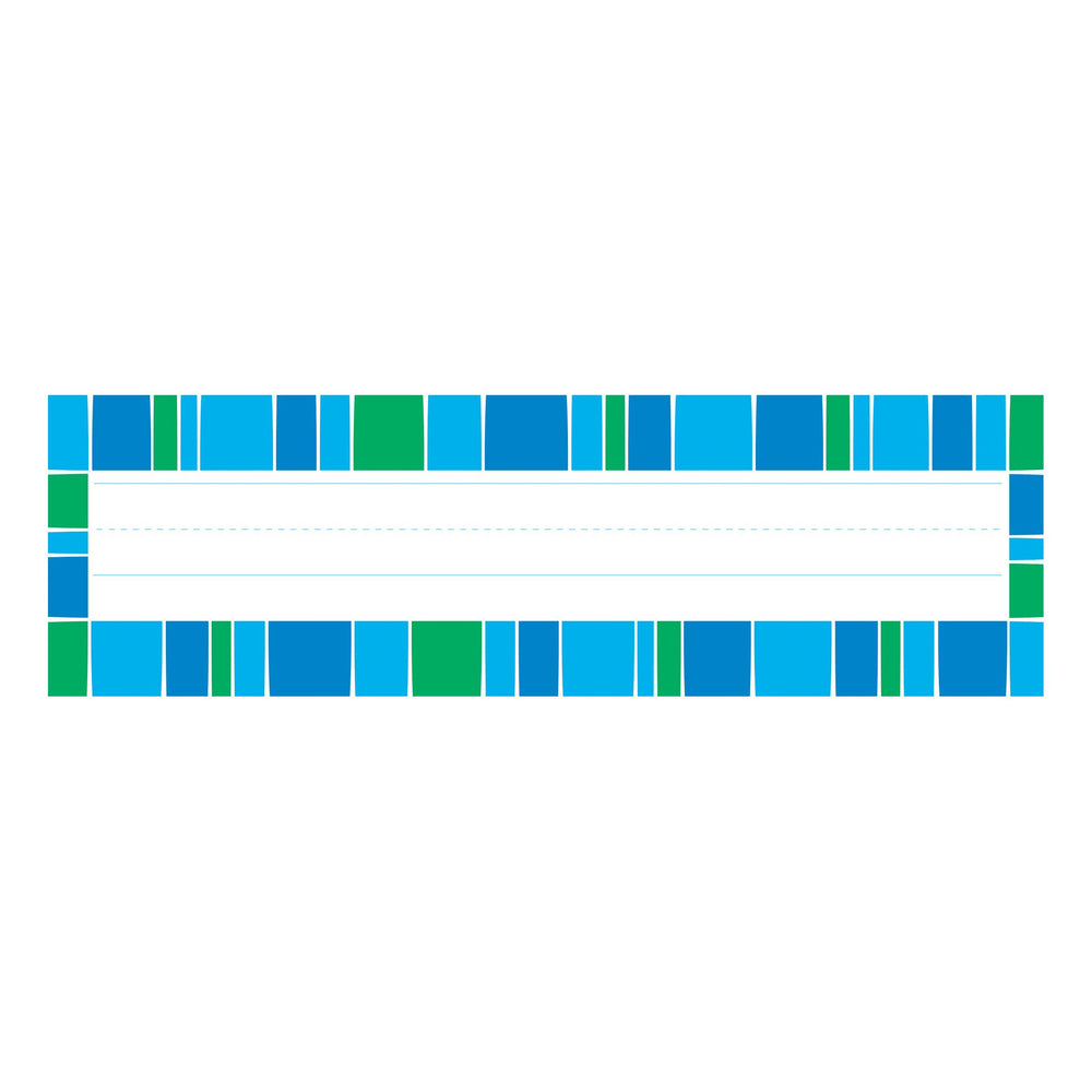 T69252 Name Plate Stripe Blue