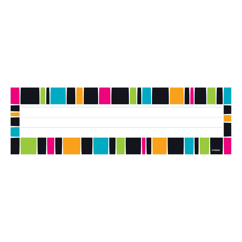 T69253 Name Plate Stripe Groovy