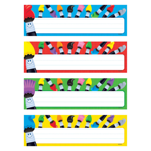 T69905 Name Plate Colortime Paintbrushes Variety Pack