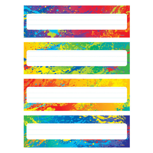 T69906 Name Plate Splash Colors Variety Pack