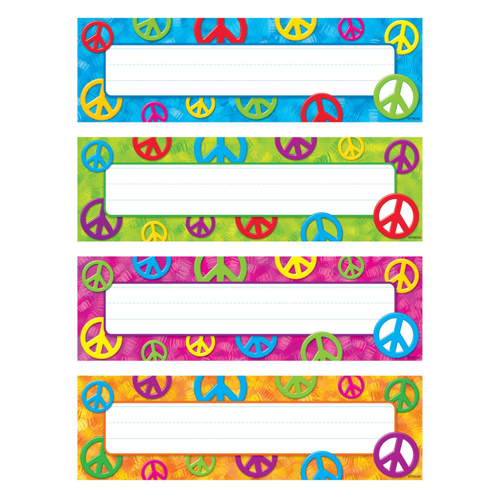 T69908 Name Plate Peace Signs Variety Pack