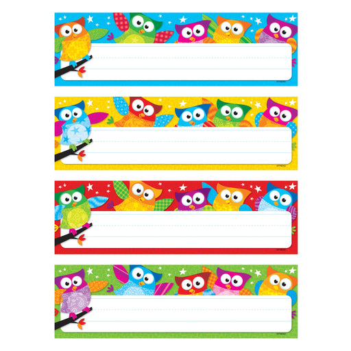 T69910 Name Plate Owl Stars Variety Pack