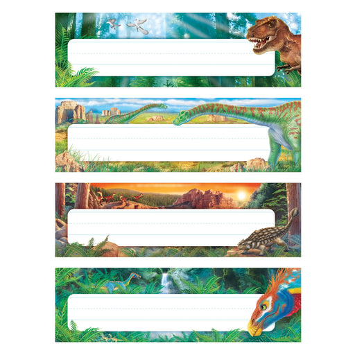 T69944 Name Plate Realistic Dinosaurs Variety Pack